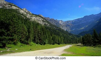Nature park in Pyrenees mountains.