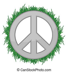 nature Peace sign illustration
