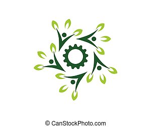 Nature people health logo vector template
