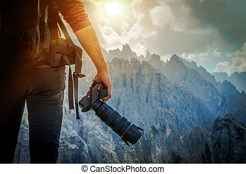 Nature Photography Concept. Professional Nature Photographer...