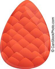 Nature pine cone icon, cartoon style
