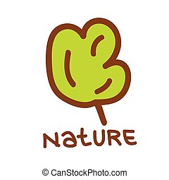 nature plant green vector on white