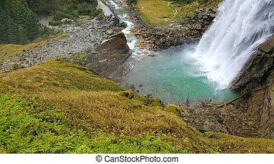 nature power beautiful waterfall in austria