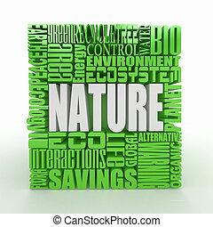 nature., résumé, cube.