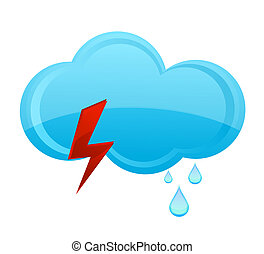 nature rain cloud symbol blue color