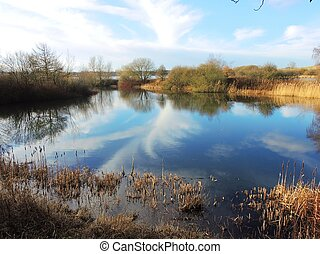 An image of a Nature reserve in Lancashire, England,