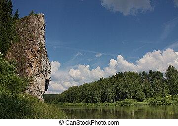 nature river Chusovaya in the Perm region