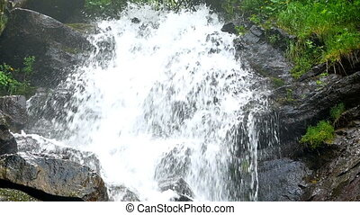 Nature river waterfall - Nature to a majestic waterfall
