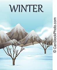 Nature scene in winter