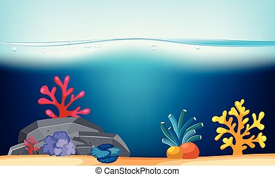 Nature scene with coral reef underwater