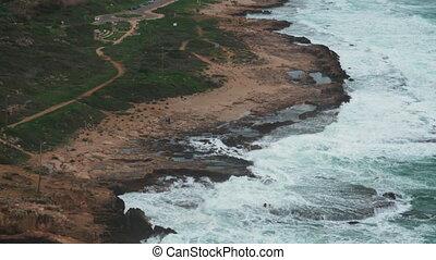 Nature scene with Rosh Hanikra coast - Rosh Hanikra...