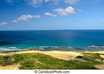 Nature scenic background of sea