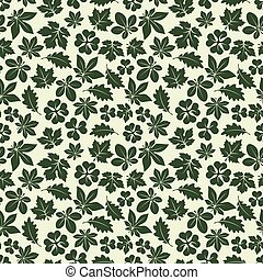 Nature seamless pattern with green leaves