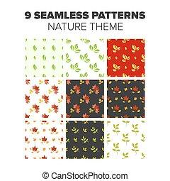 Nature Seamless patterns