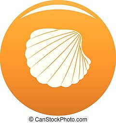 Nature shell icon vector orange