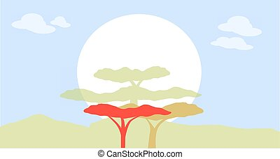 Nature silhouette - Forest nature silhouette image for...
