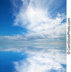 nature., sky, bakgrund