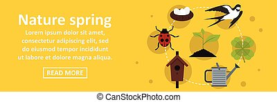 Nature spring banner horizontal concept