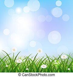 Nature spring vector illustration