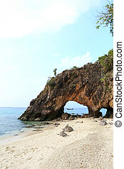 Nature stone arch at Ko Khai island
