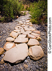 Nature Stone Hiking Path