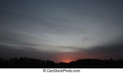 Nature sun sunset clouds sky - park trees nature. sunset...