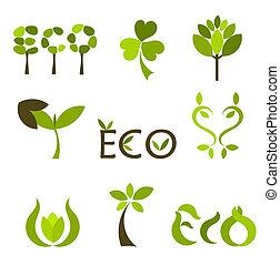 Nature symbols - Various eco and nature symbols. Vector...