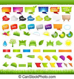 Nature Symbols - Big Set Nature Symbols, Stickers And...