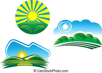 Nature symbols - Ecological and nature symbols isolated on...