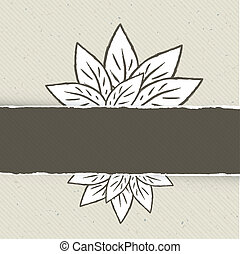 Nature themed abstract banner template. Vector illustration, EPS10