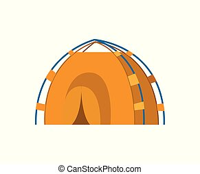 Nature Tourism, Yellow Tabernacle or Tent Vector - Tent...