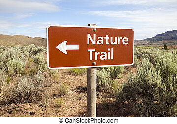 Nature Trail Sign in Remote Area