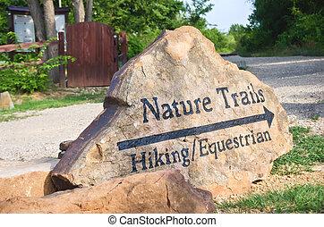 Nature trails marker