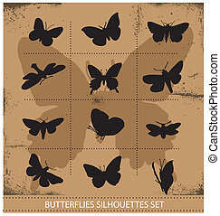 Nature various symbolical butterflies set - Nature various...
