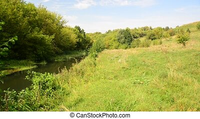 Nature with the river of central Russia in August - Nature...