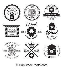 naturel, éléments, Étiquettes, emblèmes, produits,...
