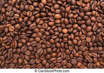 naturel, кофе, фасоль, текстура