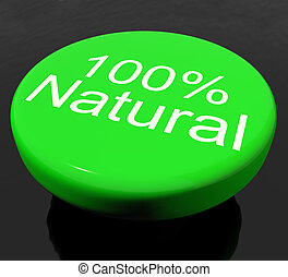 naturel, 100%, ou, ambiant, organique, bouton