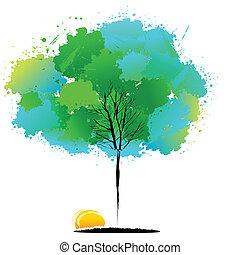 naturel, arbre, coloré