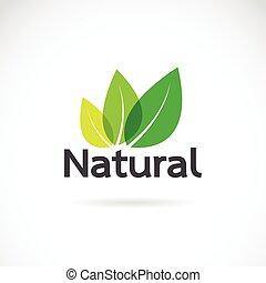 naturel, arrière-plan., vecteur, conception, gabarit, logo, blanc