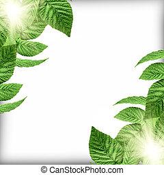 naturel, arrière-plan vert, gabarit