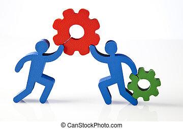 naturel, coloré, travail, réunion, équipe, tonalité
