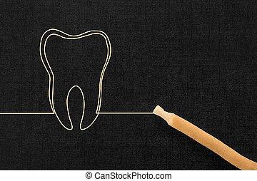 naturel, dentaire, care.