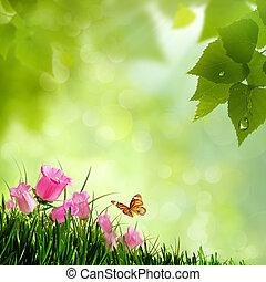 naturel, flowers., arrière-plans, résumé, beauté