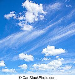 naturel, fond, ciel bleu