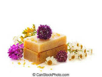 naturel, herbier, savon