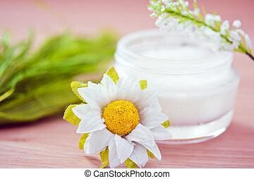 naturel, ingrédients, pour, produits de beauté, produits