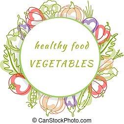 naturel, légumes, organique, conception, nourriture, ton, fond