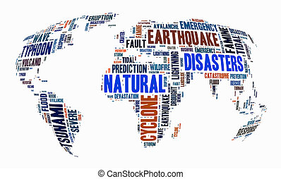 naturel, mot, désastres, nuage, fond