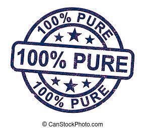 naturel, moyens, timbre, 100%, -, illustration, complètement, pur, certifié, 3d